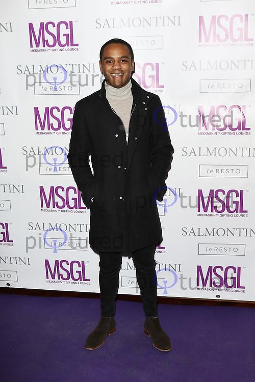 Daniel Anthony, MediaSkin Gifting Lounge, Salmontini Le Resto, London UK, 19 January 2015, Photo by Richard Goldschmidt