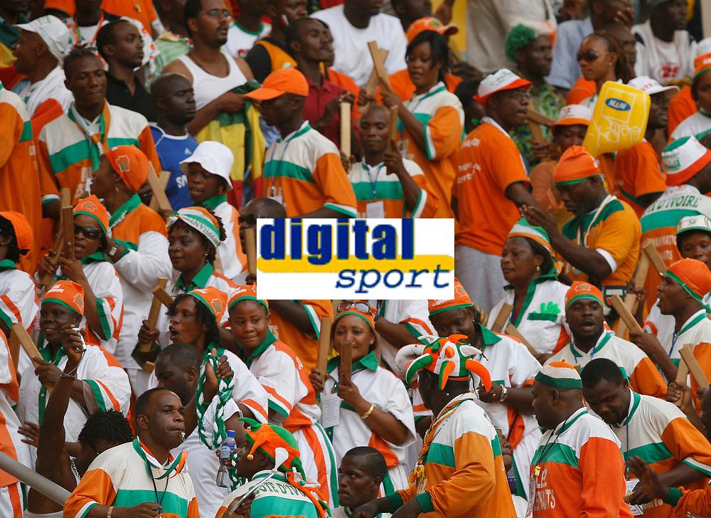 Photo: Steve Bond/Richard Lane Photography.<br />Nigeria v Ivory Coast. Africa Cup of Nations. 21/01/2008. Ivory Coast fans