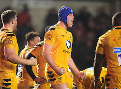 Thibaud Flament of Wasps celebrates at full time - Mandatory by-line: Alex James/JMP - 25/01/2020 - RUGBY - Sixways Stadium - Worcester, England - Worcester Warriors v Wasps - Gallagher Premiership Rugby