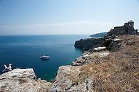 Le isole Trèmiti (o Diomedèe, dal greco Diomèdee, Διομήδεες) sono un arcipelago del mare Adriatico, sito 12 miglia nautiche a nord del promontorio del Gargano e 24 ad est della costa Molisana e da Termoli.<br /> Amministrativamente, l'arcipelago costituisce il comune italiano di Isole Tremiti di 455 abitanti della provincia di Foggia in Puglia.<br /> Il comune fa parte del Parco Nazionale del Gargano. Dal 1989 una porzione del suo territorio costituisce la Riserva naturale marina Isole Tremiti.<br /> Pur essendo il più piccolo e il secondo meno popoloso comune della Puglia (con meno abitanti vi è solo Celle di San Vito), è uno dei centri turistici più importanti dell'intera regione. Per la qualità delle sue acque di balneazione è stato più volte insignito della Bandiera Blu[4], prestigioso riconoscimento della Foundation for Environmental Education.<br /> <br /> L'arcipelago è composto dalle isole di:<br /> San Nicola, sulla quale risiede la maggior parte della popolazione e si trovano i principali monumenti dell'arcipelago.<br /> San Domino, più grande, sulla quale sono insediate le principali strutture turistiche grazie alla presenza dell'unica spiaggia sabbiosa dell'arcipelago (Cala delle Arene).<br /> Capraia (detta pure Caprara o Capperaia), la seconda per grandezza, disabitata.<br /> Pianosa, un pianoro roccioso anch'esso completamente disabitato e distante una ventina di chilometri dalle altre isole.<br /> Il Cretaccio, un grande scoglio argilloso a breve distanza da San Domino e San Nicola.<br /> La Vecchia, uno scoglio più piccolo del Cretaccio e prossimo a questo.