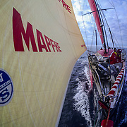 Leg Zero, St. Malo - Lisbon: DCIM\165_VIRB\VIRB0232- on board xx, . Photo by Jen Edney/Volvo Ocean Race. 14August, 2017