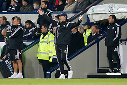 West Brom Manager Tony Pulis looks animated on the touchline - Photo mandatory by-line: Rogan Thomson/JMP - 07966 386802 - 11/02/2015 - SPORT - FOOTBALL - West Bromwich, England - The Hawthorns - West Bromwich Albion v Swansea City - Barclays Premier League.