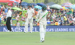Pretoria 26-12-18. The 1st of three 5 day cricket Tests, South Africa vs Pakistan at SuperSport Park, Centurion. Day 1. Afternoon session. South African batsman Faf du Plessis (captain) ia out for 0 runs off 1 ball. <br /> Picture: Karen Sandison/African News Agency(ANA)