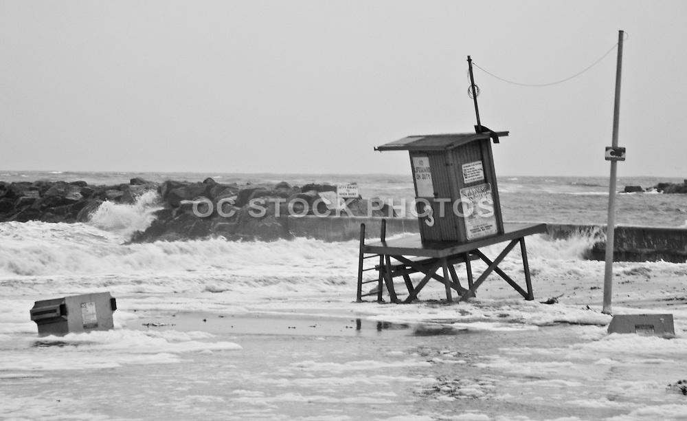 Newport Beach During a Rain Storm