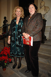 Left to rightm co-chairmen the HON.MRS (OLIVIA) PETHYBRIDGE and MRS JOHN PONCIA at a Christmas Concert in aid of The Children's Trust at The Royal Hospital, Chelsea, London on 3rd December 2007.<br />