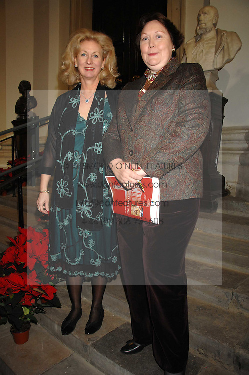Left to rightm co-chairmen the HON.MRS (OLIVIA) PETHYBRIDGE and MRS JOHN PONCIA at a Christmas Concert in aid of The Children's Trust at The Royal Hospital, Chelsea, London on 3rd December 2007.<br /><br />NON EXCLUSIVE - WORLD RIGHTS
