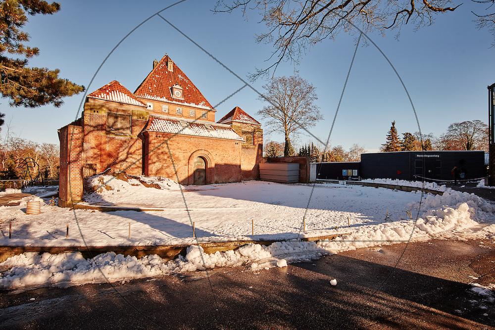 Det gamle Elefanthus, før renovering, før miljøsanering, Københavns Zoo, Københavns Zoologiske have, elefanters udeområde i vintersne