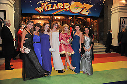 Left to right, Emilie Fleming, Lauren Samuels, Sophie Evans, Jessica Robinson, Bronte Barbe, Dani Rayner and Steph Fearon arrive at the press night of the new Andrew Lloyd Webber  musical 'The Wizard of Oz' at The London Palladium, Argylle Street, London on 1st March 2011 followed by an aftershow party at One Marylebone, London NW1