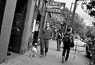 2011 October 31 - Dog walker, near Comet Tavern, Capitol Hill, Seattle, WA, USA. Copyright Richard Walker