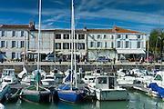 Boats in the harbour at Quai de Senac in La Flotte, Ile de Re, France