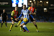 Brighton striker (on loan from Manchester United), James Wilson (21) during the Sky Bet Championship match between Brighton and Hove Albion and Birmingham City at the American Express Community Stadium, Brighton and Hove, England on 28 November 2015.