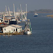Leeville, LA                             October 20, 2005<br /> <br /> Fishing vessels near Leeville, LA. Photo by Lori Waselchuk