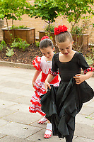 London. England. Over 100 students and professional flamenco dancers performed today at the Escuela de Baile student show to raise money for Great Ormond Street Childrens Hospital Renal Unit. Escuela de Baile, one of the largest flamenco schools outside of Spain is also celebrating its 22nd year.