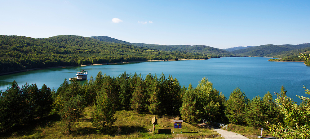 View of Starina reservoir. Close to Jalova village, Slovakia.