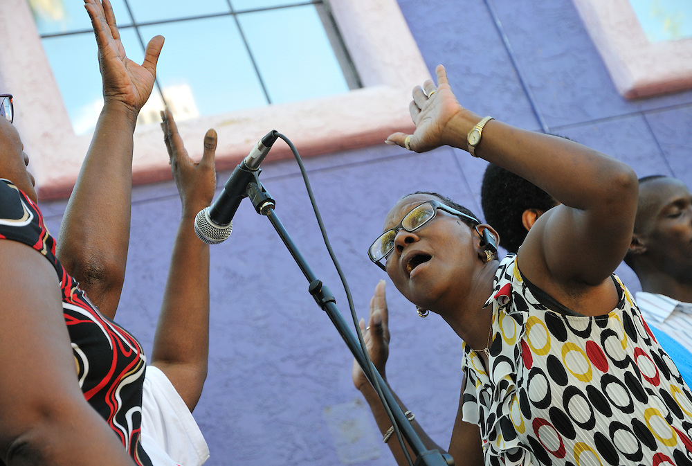 Gospel Workshop of America's Tucson Chapter in concert at the Tucson Meet Yourself international culture festival.