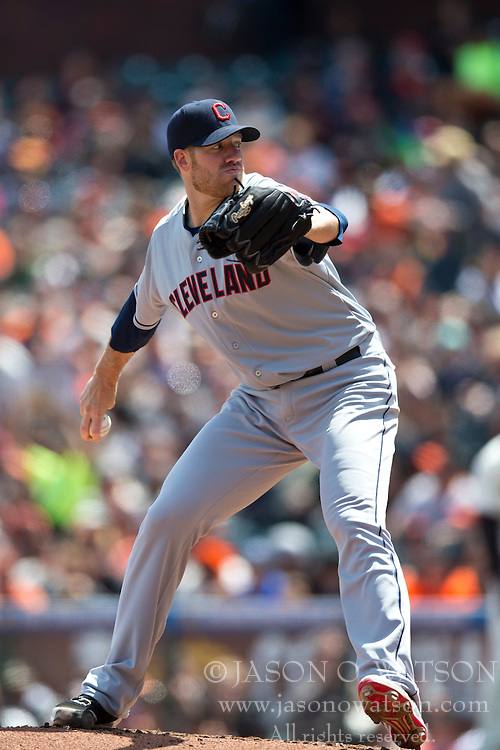 SAN FRANCISCO, CA - APRIL 26:  Zach McAllister #34 of the Cleveland Indians pitches against the San Francisco Giants during the third inning at AT&T Park on April 26, 2014 in San Francisco, California. The San Francisco Giants defeated the Cleveland Indians 5-3.  (Photo by Jason O. Watson/Getty Images) *** Local Caption *** Zach McAllister