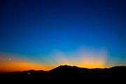 ZONZA, CORSICA: August 15, 2007 -- ROAD TO BASTELICA -- The lights of Serra di Scopamene from Zonza on the road to Bastelica, Corsica August 15...Steve McKinley Photo.