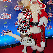 London, England, UK. 16th November 2017. Hofit Golan and Santa attend the VIP launch of Hyde Park Winter Wonderland 2017 for a preview. tomorrow is opening for the public