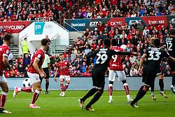 Jamie Paterson of Bristol City scores a goal from a freekick to make it 3-1 - Rogan/JMP - 16/09/2017 - Ashton Gate Stadium - Bristol, England - Bristol City v Derby County - Sky Bet Championship.