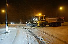Ruapehu-Snow blocking SH4 at National Park Village