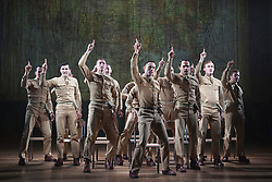 """© Licensed to London News Pictures. 16/10/2013. London, England. The Musical """"From Here to Eternity"""" opens at the Shaftesbury Theatre on 23 October 2013 starring Darius Campbell, Siubhan Harrison, Robert Lonsdale and Rebecca Thornhill. This brand new musical is directed by Tamara Harvey and lyrics by Tim Rice, music by Stuart Brayson and script by Bill Oakes. Photo credit: Bettina Strenske/LNP"""