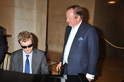 Left to right, DEREK PARAVICINI and ANDREW PARKER BOWLES at the opeing of Green's Restaurant & Oyster Bar, 14 Cornhill, London EC3 on 1st September 2009.