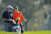 Kevin Streelman and his caddie on the North Course during the pro-am prior to the Farmers Insurance Open at Torrey Pines on Jan. 25, 2012 in San Diego, California...©2012 Scott A. Miller