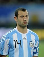 FUSSBALL   INTERNATIONAL   Testspiel  in  Doha  17.11.2010 Argentinien - Brasilien Javier MASCHERANO (Argentinien)