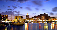 Townsville city and water at dusk  Townsville Queensland Australia  July 2007