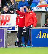 Dundee manager Paul Hartley and assistant manager Gerry McCabe - Inverness Caledonian Thistle v Dundee in the Ladbrokes Scottish Premiership at Caledonian Stadium, Inverness. Photo: David Young<br /> <br />  - &copy; David Young - www.davidyoungphoto.co.uk - email: davidyoungphoto@gmail.com