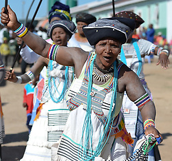 Nov. 21, 2014 - Mthatha, Eastern Cape, South Africa - Mandela's homeland of Mthatha traditional dances demostration at Ngcendese School. Mthatha, Eastern Cape, South Africa. (Picture by: Artur Widak/NurPhoto) (Credit Image: © Artur Widak/NurPhoto/ZUMA Wire)
