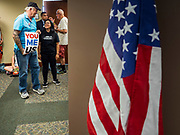 02 JULY 2019 - DES MOINES, IOWA: Protesters in Rep. Cindy Axne's office during a protest against ICE. About 150 people came to Congresswoman Axne's office in Des Moines Tuesday to protest the treatment of migrant children detained by the US Border Patrol along the US/Mexico border. Axne was not in the office, but a member of Axne's staff took notes and promised to pass people's concerns on to the Congresswoman. Similar protests were held at other congressional offices and Immigration and Customs Enforcement (ICE) detention facilities across the country.         PHOTO BY JACK KURTZ