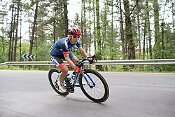 Hayley Simmonds (GBR) of Team WNT leans into a corner during the second lap of  the Durango-Durango Emakumeen Saria - a 113 km road race, starting and finishing in Durango on May 16, 2017, in the Basque Country, Spain.