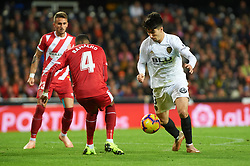 November 3, 2018 - Valencia, Valencia, Spain - Carlos Soler of Valencia CF and Jonas Ramalho of Girona FC during the La Liga match between Valencia CF and Girona FC at Mestala Stadium on November 3, 2018 in Valencia, Spain (Credit Image: © AFP7 via ZUMA Wire)