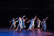 Santa Clara University's Department of Theatre & Dance rehearses for the Fall Dance Festival performance at Fess Parker Studio Theatre at Santa Clara University in Santa Clara, California, on September 15, 2015. (Stan Olszewski/SOSKIphoto)