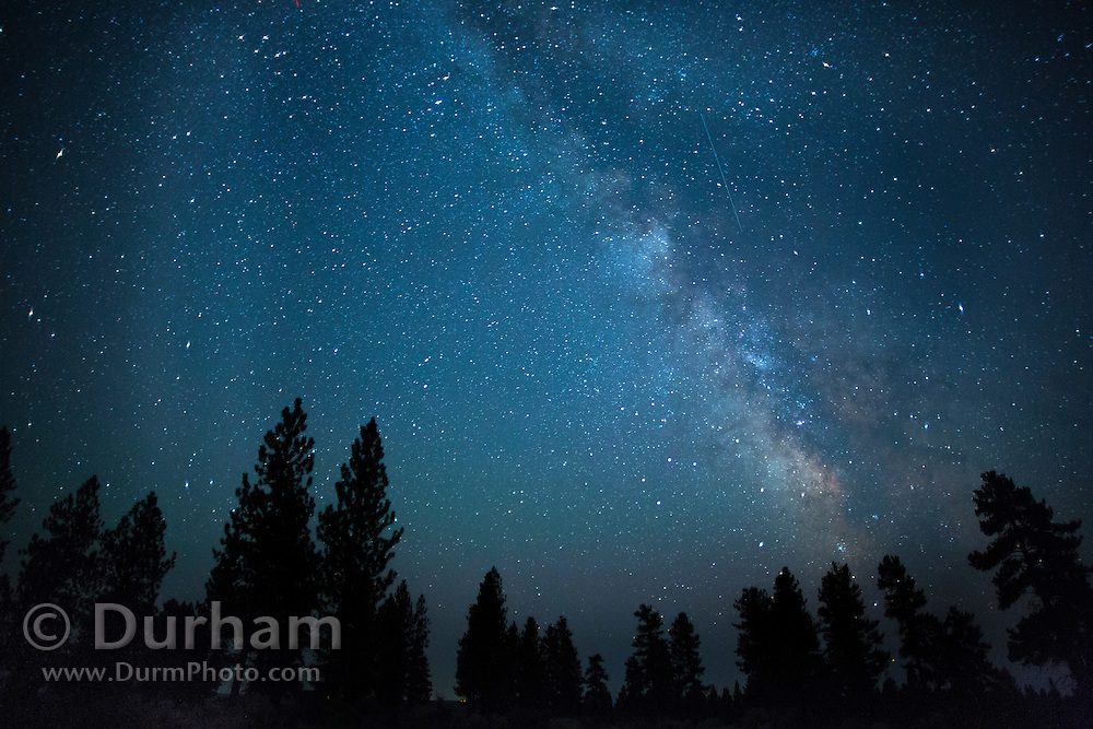 Night sky with the milky way in the high desert of Central Oregon. ©Michael Durham.