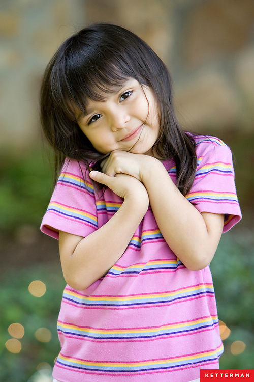 Portrait of an adorable little girl.