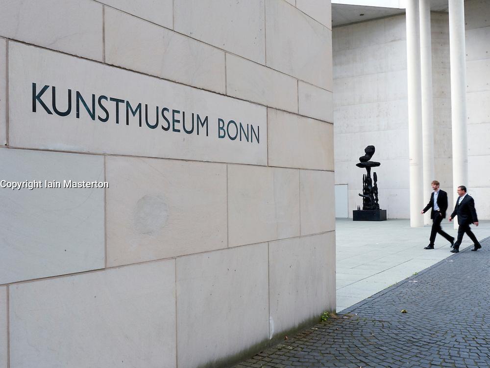 Exterior of modern Bonn Art Museum or Kunstmuseum Bonn