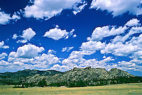 Cumulus mediocris clouds over the Laramie Mountains, Wyoming.