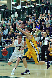 21 February 2017:  Andy Stempel during an College men's division 3 CCIW basketball game between the Augustana Vikings and the Illinois Wesleyan Titans in Shirk Center, Bloomington IL