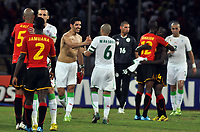 FOOTBALL - AFRICAN NATIONS CUP 2010 - GROUP A - ALGERIA v ANGOLA - 18/01/2010 - PHOTO MOHAMED KADRI / DPPI - JOY RAFIK HALLICHE AND YAZID MANSOURI AT THE END OF MATCH