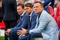 EINDHOVEN - 14-08-2016, PSV - AZ, Philips Stadion, 1-0, Assistent trainer Leeroy Echteld, Assistent trainer Dennis Haar, AZ trainer John van den Brom