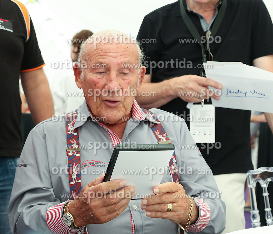 18.07.2015, Gröbming, Goebming, AUT, Ennstal Classic 2015, Chopard Brunch, im Bild Sir Stirling Moss // during the Chopard Brunch of Ennstal Classic 2015 in Gröbming in Goebming, Austria on 2015/07/18. EXPA Pictures © 2015, PhotoCredit: EXPA/ Martin Huber