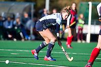 LAREN - Hockey - Laren speelster Vicky van den Broek tijdens de hoofdklasse hockeywedstrijd tussen de vrouwen van Laren en Nijmegen (6-0). COPYRIGHT KOEN SUYK