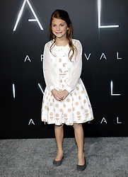Abigail Pniowsky at the Los Angeles premiere of 'Arrival' held at the Regency Village Theater in Westwood, USA on November 6, 2016.