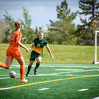 3rd year forward Kirsten Finley (11) of the Regina Cougars during the Women's Soccer home game on September 17 at U of R Field. Credit: Arthur Ward/Arthur Images