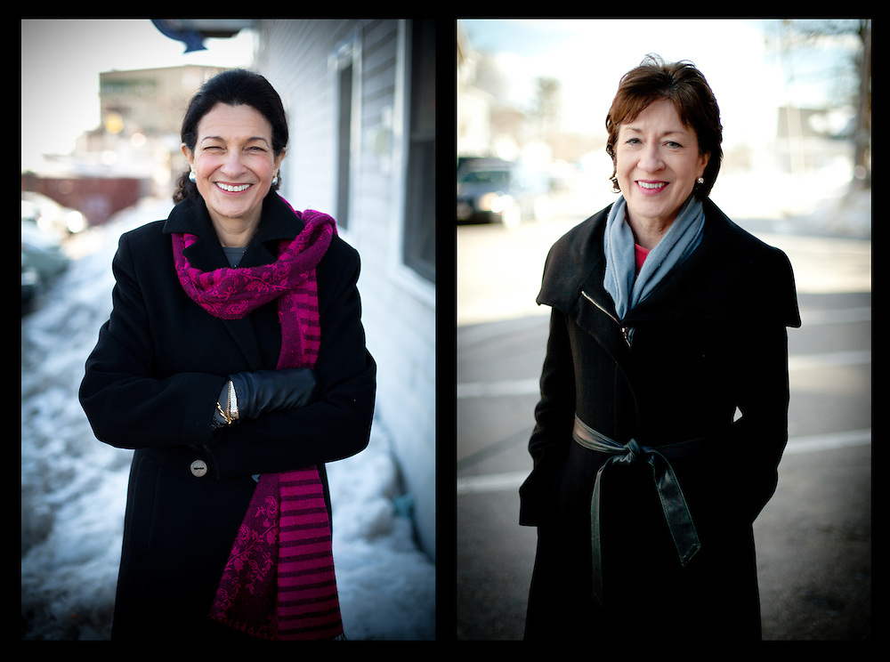 Maine's two Senators Olympia Snowe and Susan Collins - For The Washington Post