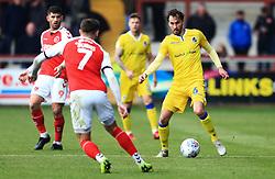 Edward Upson of Bristol Rovers takes on Wes Burns of Fleetwood Town - Mandatory by-line: Matt McNulty/JMP - 27/04/2019 - FOOTBALL - Highbury Stadium - Fleetwood, England - Fleetwood Town v Bristol Rovers - Sky Bet League One