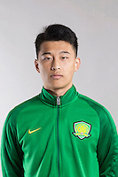 Portrait of Chinese soccer player Ba Dun of Beijing Sinobo Guoan F.C. for the 2017 Chinese Football Association Super League, in Benahavis, Marbella, Spain, 18 February 2017.