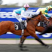 Midsummer Sun and Ian Mongan winning the 2.30 race